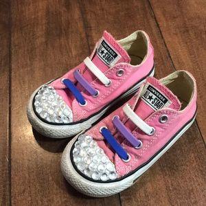 Toddler girls Pink converse sneakers